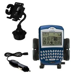 Gomadic Blackberry 6280 Auto Cup Holder with Car Charger - Uses TipExchange