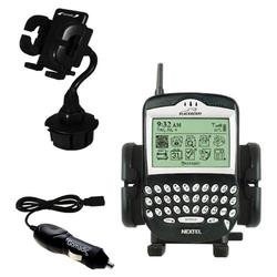 Gomadic Blackberry 6510 Auto Cup Holder with Car Charger - Uses TipExchange