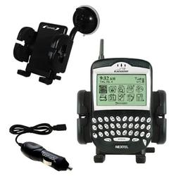 Gomadic Blackberry 6510 Auto Windshield Holder with Car Charger - Uses TipExchange