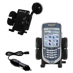 Gomadic Blackberry 7100T Auto Windshield Holder with Car Charger - Uses TipExchange