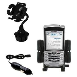 Gomadic Blackberry 7100g Auto Cup Holder with Car Charger - Uses TipExchange