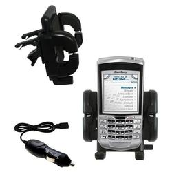 Gomadic Blackberry 7100g Auto Vent Holder with Car Charger - Uses TipExchange