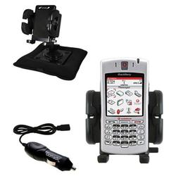 Gomadic Blackberry 7100v Auto Bean Bag Dash Holder with Car Charger - Uses TipExchange