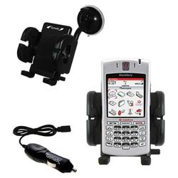 Gomadic Blackberry 7100v Auto Windshield Holder with Car Charger - Uses TipExchange