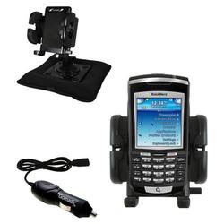 Gomadic Blackberry 7100x Auto Bean Bag Dash Holder with Car Charger - Uses TipExchange