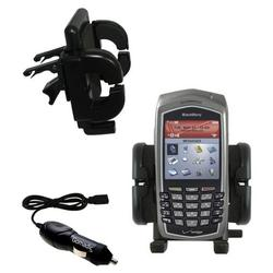 Gomadic Blackberry 7130e Auto Vent Holder with Car Charger - Uses TipExchange