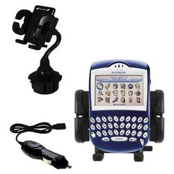 Gomadic Blackberry 7230 Auto Cup Holder with Car Charger - Uses TipExchange