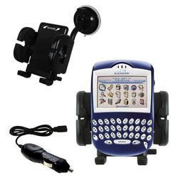 Gomadic Blackberry 7230 Auto Windshield Holder with Car Charger - Uses TipExchange