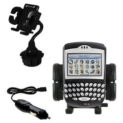 Gomadic Blackberry 7250 Auto Cup Holder with Car Charger - Uses TipExchange