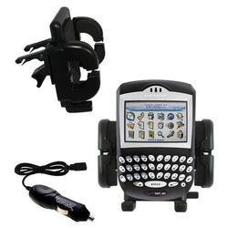 Gomadic Blackberry 7250 Auto Vent Holder with Car Charger - Uses TipExchange