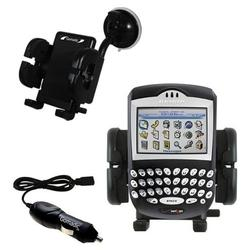 Gomadic Blackberry 7250 Auto Windshield Holder with Car Charger - Uses TipExchange