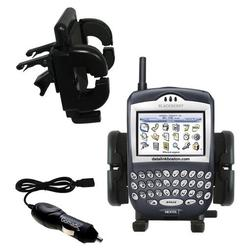 Gomadic Blackberry 7520 Auto Vent Holder with Car Charger - Uses TipExchange