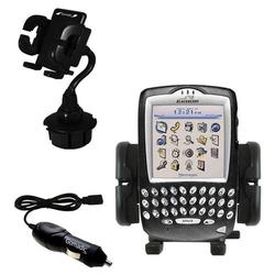Gomadic Blackberry 7730 Auto Cup Holder with Car Charger - Uses TipExchange