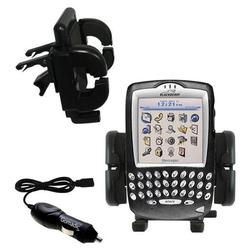 Gomadic Blackberry 7750 Auto Vent Holder with Car Charger - Uses TipExchange