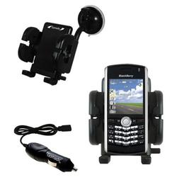Gomadic Blackberry 8120 Auto Windshield Holder with Car Charger - Uses TipExchange