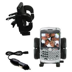 Gomadic Blackberry 8300 Curve Auto Vent Holder with Car Charger - Uses TipExchange