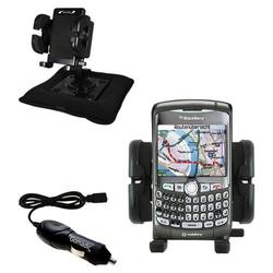Gomadic Blackberry 8310 Auto Bean Bag Dash Holder with Car Charger - Uses TipExchange