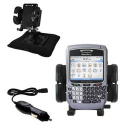 Gomadic Blackberry 8700c Auto Bean Bag Dash Holder with Car Charger - Uses TipExchange