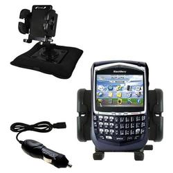 Gomadic Blackberry 8700g Auto Bean Bag Dash Holder with Car Charger - Uses TipExchange