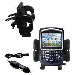 Gomadic Blackberry 8700g Auto Vent Holder with Car Charger - Uses TipExchange