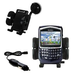 Gomadic Blackberry 8700r Auto Windshield Holder with Car Charger - Uses TipExchange