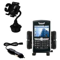 Gomadic Blackberry 8820 Auto Cup Holder with Car Charger - Uses TipExchange
