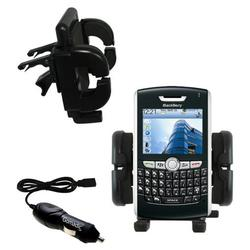 Gomadic Blackberry 8820 Auto Vent Holder with Car Charger - Uses TipExchange