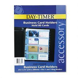 Daytimer/Acco Brands Inc. Business Card Holders for Folio Size Looseleaf Planners, 8 1/2 x 11, 5/Pack