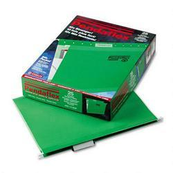 Esselte Pendaflex Corp. Hanging Folder, Reinforced with InfoPocket®, Bright Green, 1/5 Tab, Ltr, 25/Box