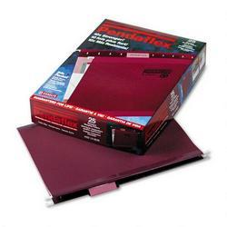 Esselte Pendaflex Corp. Hanging Folder, Reinforced with InfoPocket®, Burgundy, 1/5 Tab, Ltr, 25/Box