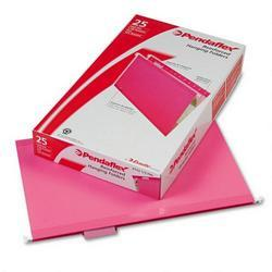 Esselte Pendaflex Corp. Hanging Folder, Reinforced with InfoPocket®, Pink, 1/5 Tab, Legal, 25/Box
