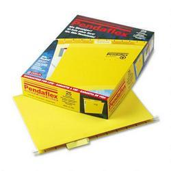 Esselte Pendaflex Corp. Hanging Folder, Reinforced with InfoPocket®, Yellow, 1/5 Tab, Letter, 25/Box