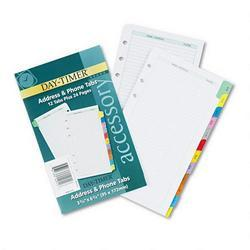 Daytimer/Acco Brands Inc. Portable Size Address/Phone Directory for Looseleaf Planner, Colored Tabs