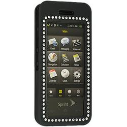Wireless Emporium, Inc. Black Bling Rubberized Snap-On Protector Case for Samsung Instinct M800