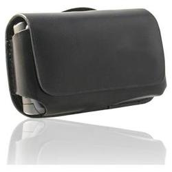 IGM Black Leather Fitted Horizontal Case Pouch For T-mobile Sony Ericsson TM506
