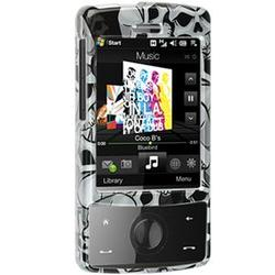 Wireless Emporium, Inc. Black w/Gray Skulls Snap-On Protector Case Faceplate for HTC Touch Diamond CDMA