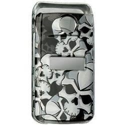 Wireless Emporium, Inc. Black w/Gray Skulls Snap-On Protector Case Faceplate for Sony Ericsson TM506