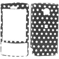 Wireless Emporium, Inc. Black w/White Polka Dots Snap-On Protector Case Faceplate for HTC Touch Diamond CDMA