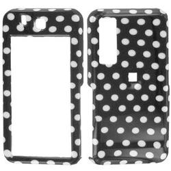 Wireless Emporium, Inc. Black w/White Polka Dots Snap-On Protector Case Faceplate for Samsung Behold T919