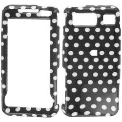 Wireless Emporium, Inc. Black w/White Polka Dots Snap-On Protector Case Faceplate for Samsung Omnia SCH-i910