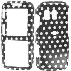 Wireless Emporium, Inc. Black w/White Polka Dots Snap-On Protector Case Faceplate for Samsung Rant SPH-M540
