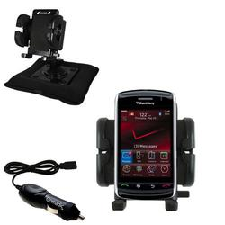 Gomadic Blackberry 9500 Auto Bean Bag Dash Holder with Car Charger - Uses TipExchange
