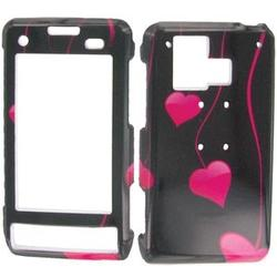 Wireless Emporium, Inc. Hanging Pink Hearts Snap-On Protector Case Faceplate for LG Dare VX9700