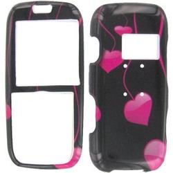 Wireless Emporium, Inc. Hanging Pink Hearts Snap-On Protector Case Faceplate for LG Rumor LX260