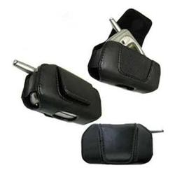 Wireless Emporium, Inc. Black Horizontal Genuine Leather Case for LG VX3300