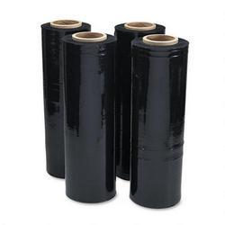 Universal Office Products Black Stretch Film, 18 w x 1,500' Roll, 20 Micron (80 Gauge), 4 Rolls/Carton (UNV62120)