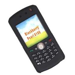 Wireless Emporium, Inc. Blackberry 8100 Pearl Silicone Protective Case (Black)