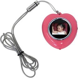 CTA Digital Heart Shape Picture Frame Necklace - Pink