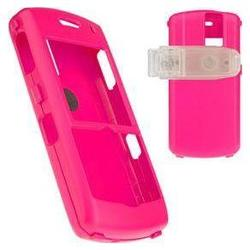 Wireless Emporium, Inc. Blackberry 8100 Pearl Snap-On Rubberized Protector Case w/Clip (Hot Pink)