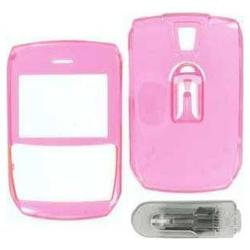 Wireless Emporium, Inc. Blackberry 8700/8703e Trans. Pink Snap-On Protector Case w/Clip
